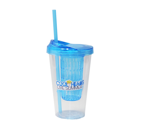 Tumbler Cup with Infuser Lids and Straw, 20oz