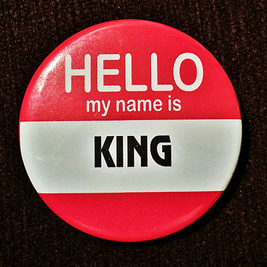Hello, My Name is KING-Education Button