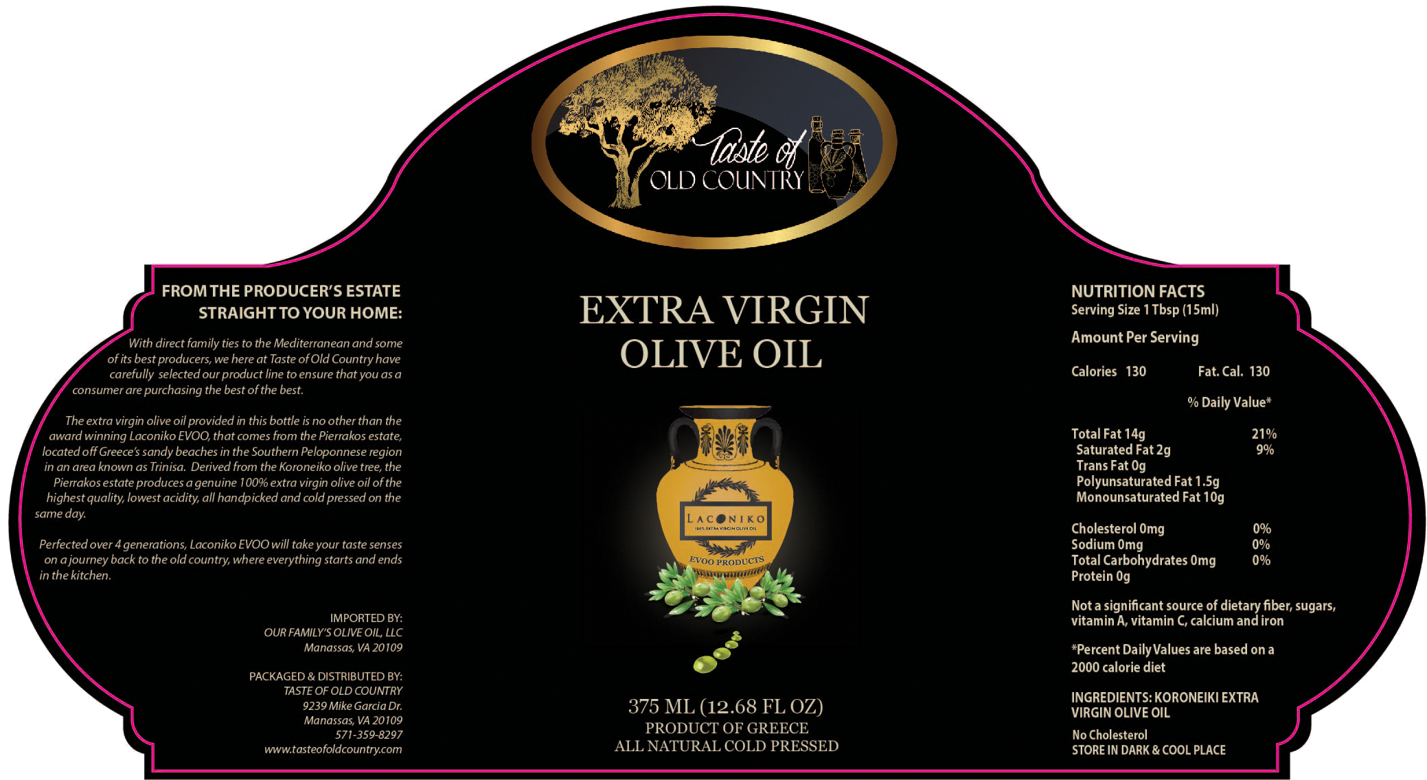 Taste of Old Country EVOO