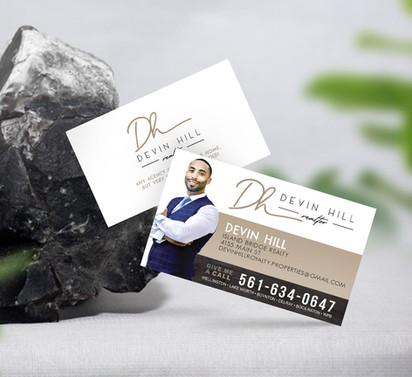 Brand designer for hire: Realtor business card designer