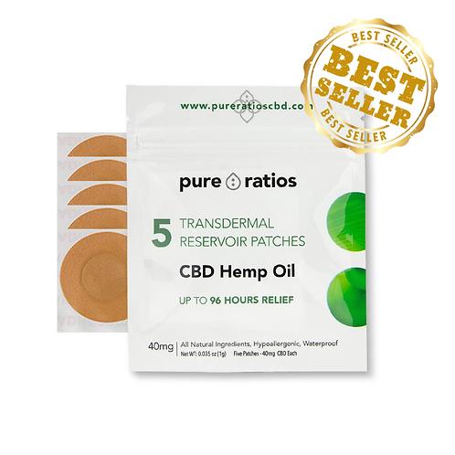 ( Pure Ratios ) – CBD Patch (40mg CBD) Up to 96 Hour Usage