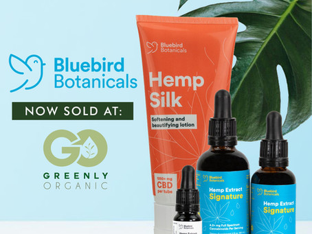 The Bluebird Botanicals Brand now being sold at Greenly Organic
