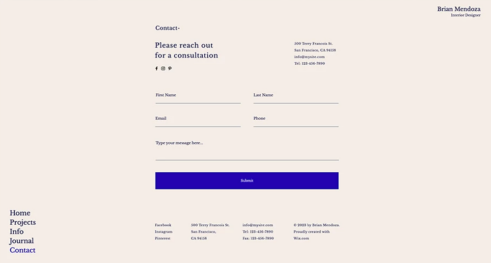 wix certified expert designs full screen forms
