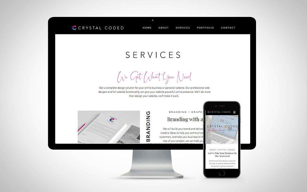 Simple Clean Modern Wix site Example Wix Expert Crystal Coded