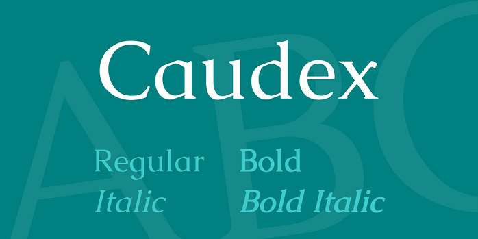caudex-font-free