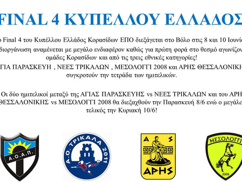 Final Four Κυπέλλου Κορασίδων ΕΠΟ