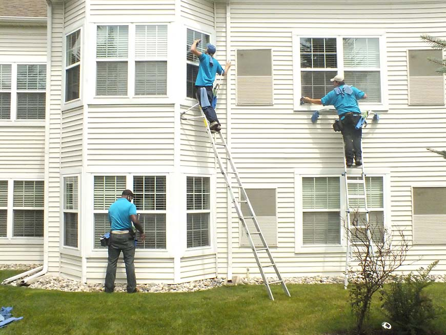 third story window cleaning