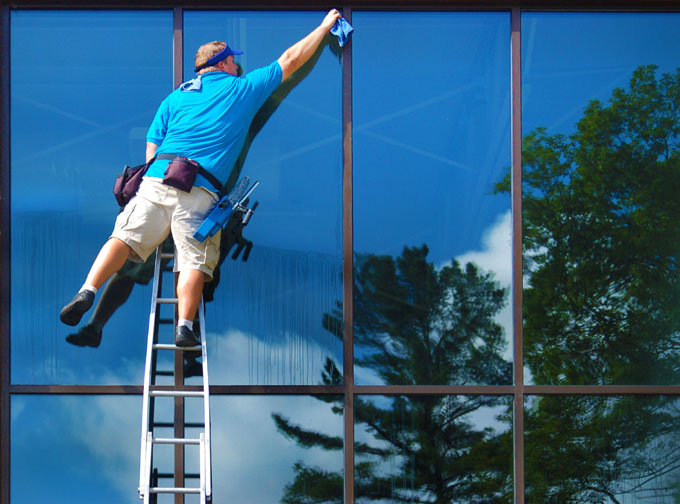 Cleaning windows throughout metro Detroit