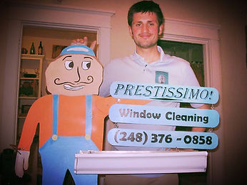 Carl Scott, Owner of Prestissimo Window Cleaning Co. 2010