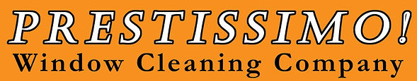 Prestissimo Window Cleaning Company - website banner logo