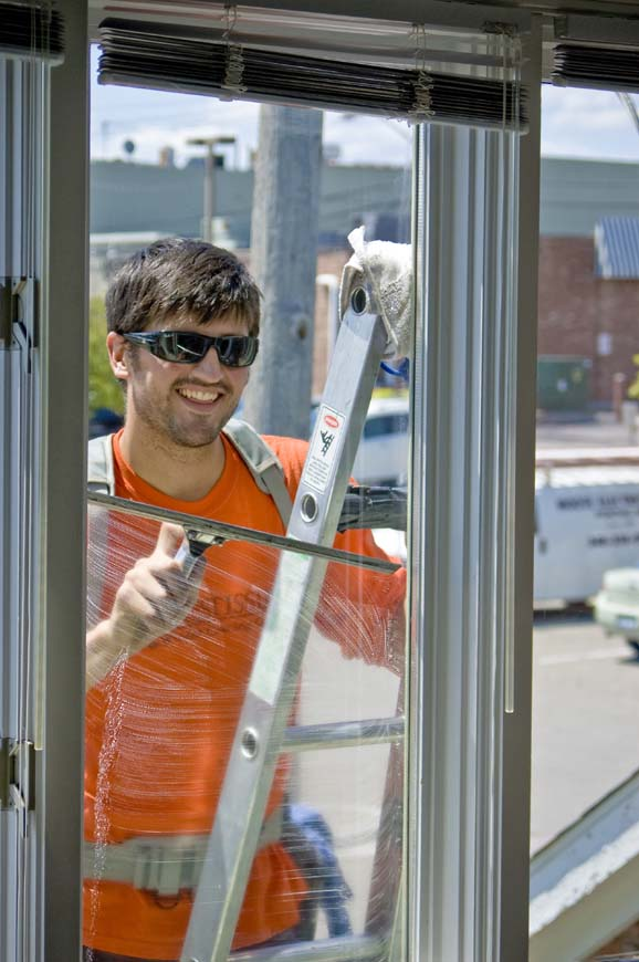 Window Cleaning - Exterior Ladder