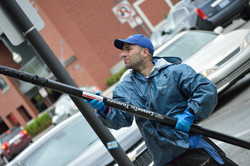 Midrise building window cleaning