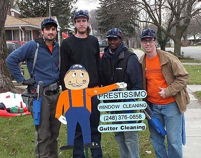 Prestissimo Window Cleaning Crew 2012. Carl, Dusty, Jarrod, Mason