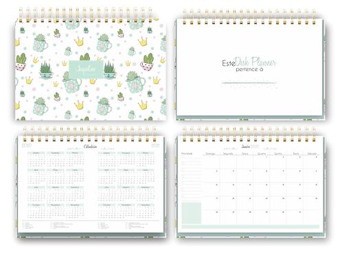 Arquivo digital Desk Planner Mensal Cactus BIG
