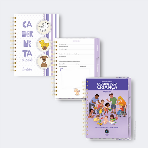 COMBO Digital Complemento Caderneta de vacinação com as cores da caderneta