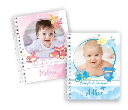 Combo Capas com fotos editáveis e complemento para caderneta de vacinação