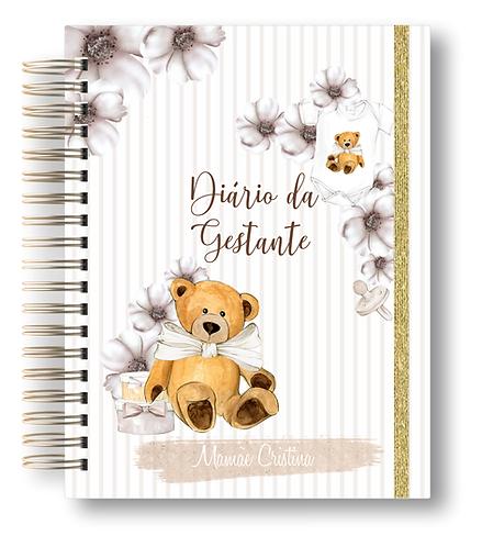Diário da Gestante Urso Clean