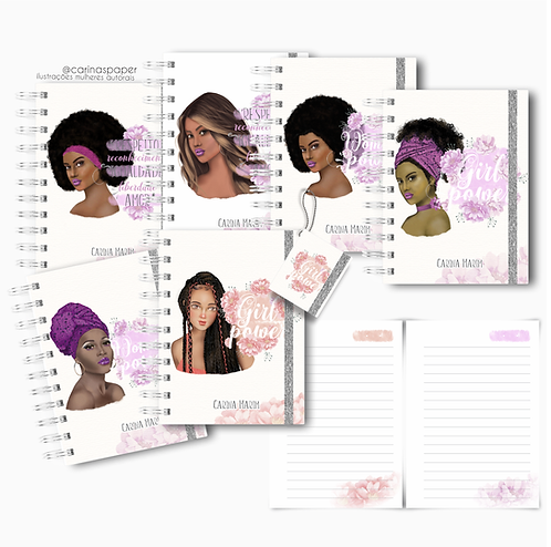 COMBO Dia da Mulher Caderninhos A6 com 23 capas