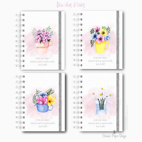 Arquivo digital Caderninho Minha Mãe Floral A6