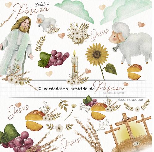 Kit digital Ilustrações O verdadeiro sentido da Páscoa