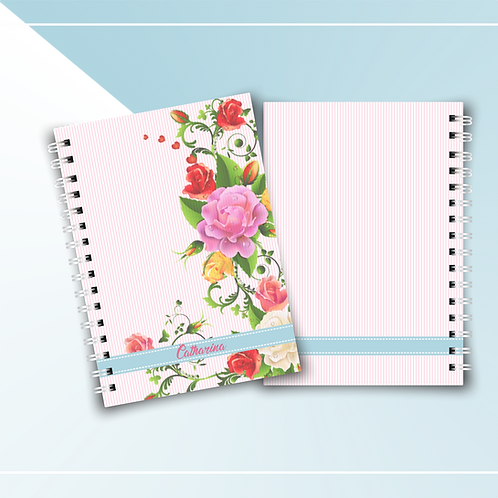 Caderno Floral Rosas