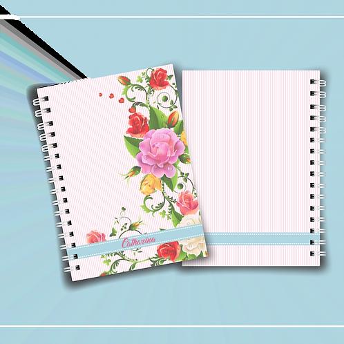 Arquivo Digital Caderno Floral Rosas