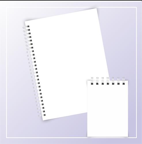 Mockup Caderno Universitário com bloquinho