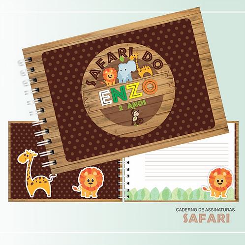 Caderno de Assinaturas Safari Scrapbook