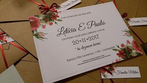 Arquivo digital Convite Floral Marsala