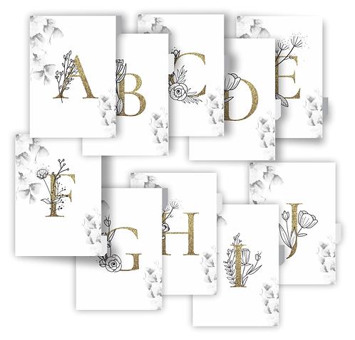 COMBO Divisórias com Alfabeto A5 e A6
