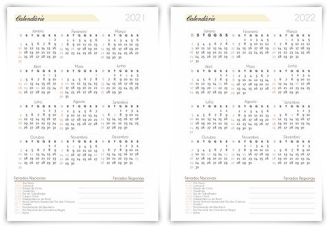 Calendário 2021/22 Planner Financeiro Permanente