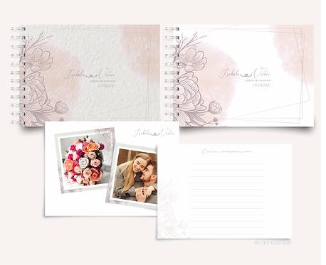 Arquivo Digital Caderno de Assinaturas Floral Clean