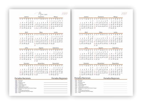 Atualização Calendário Planner Planejando Meu Negócio