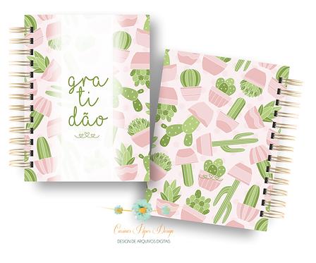 Arquivo digital Mini caderno gratidão
