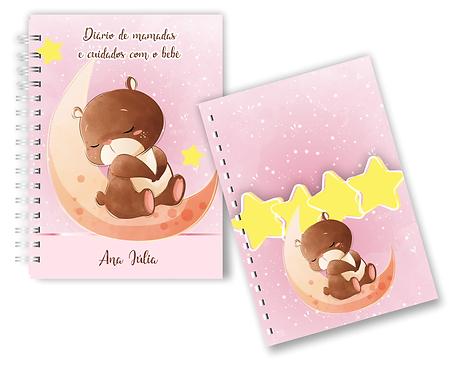 Combo Diário de mamadas e cuidados com o bebê