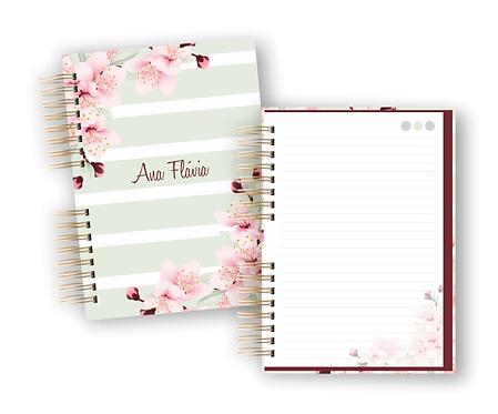 Caderno Floral A5