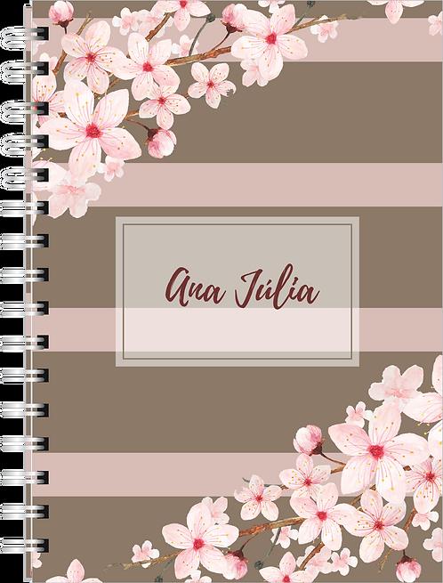 Caderno Floral Clean
