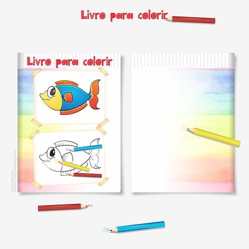 Arquivo Digital Livro para colorir A5