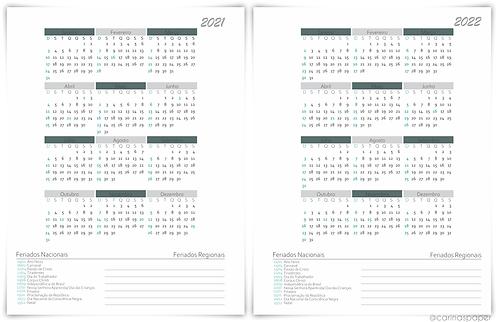 Calendários Big Planner Universitário Neutro 2021/2022