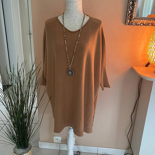 Oversize lange Tunika-Kleid