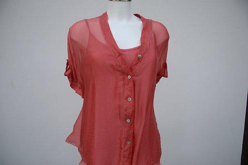 2-teiliges Seiden-Hemd