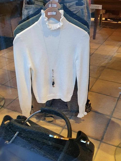 Basic Pullover mit Hochkragen