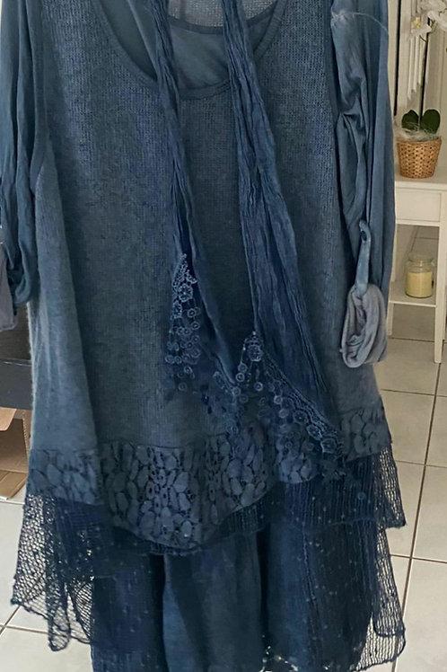 3-teiliges Tunika-Kleid