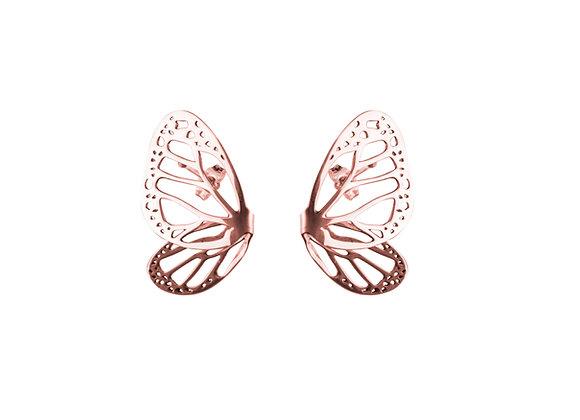 Aretes Fragmento Monarca rosa