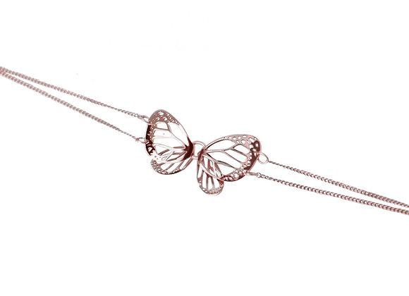 Pulsera Mariposa Monarca Mediana Rosa