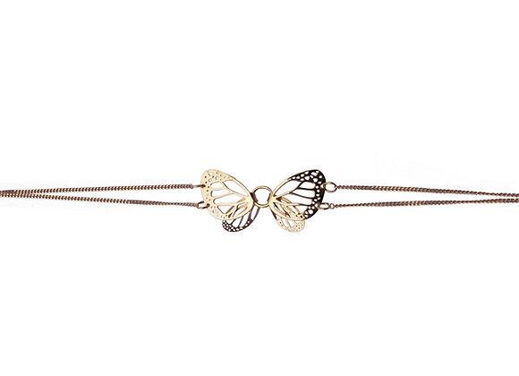 Pulsera Mariposa Monarca Mediana Oro