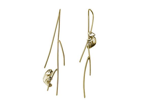 Aretes Camaleon Oro