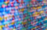 Abstract data bits stream background. Di