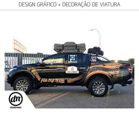 DESIGN GRÁFICO + IMPRESSÃO + DECORAÇÃO DE VIATURA