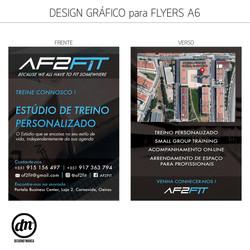 DESIGN GRÁFICO + PRODUÇÃO DE FLYERS A6